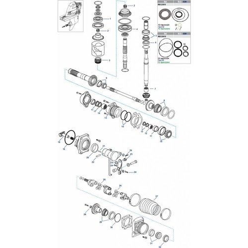 Volvo Penta DPH / DPR Gearcase Components
