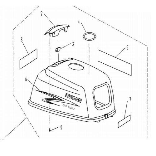Parsun Buitenboordmotor F2.6 onderdelen