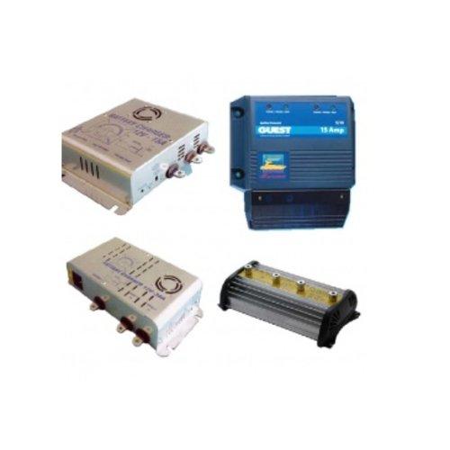 Batterij laders en laadstroom verdelers