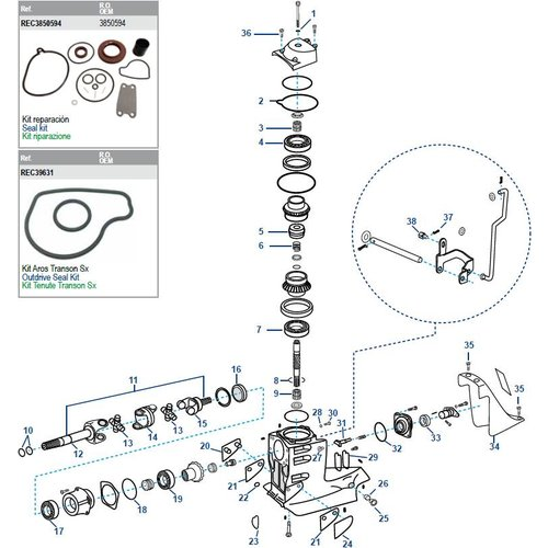 Volvo SX Driveshaft Housing Components