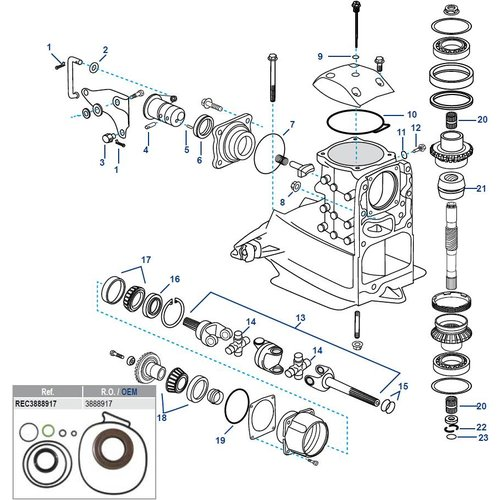 Volvo Penta SX-A, FWD, DPS-A, DPS-B Upper Housing Components