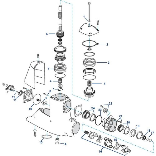 Volvo Penta DP-G, DPX-A Upper Housing Components