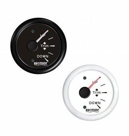 RecMar Trim meter black/white 0-190 position