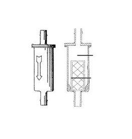 Benzine filter 1/4 (5/6 mm) slang