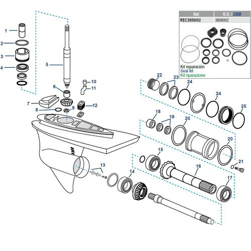 Volvo Penta DP-S Lower Housing Components