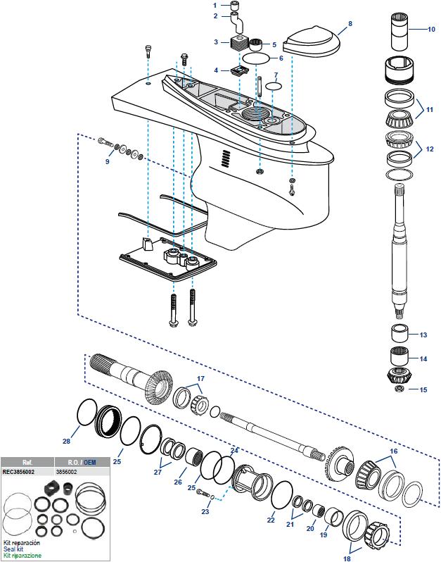 Seal Kit Lower  Volvo DP-SM  3856002