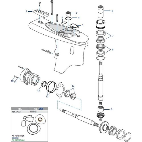 Volvo Penta SX-A Lower Housing Components