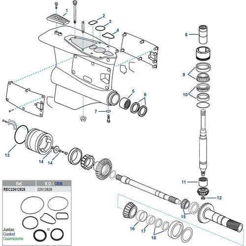Volvo Penta FWD Lower Housing Components