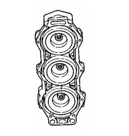(1) Cilinderkop Yamaha 150/175/200 pk 2T 64E-11111-00-94 / 6G5-11111-00-94