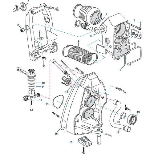 Volvo Transom Shield SX-A TSK