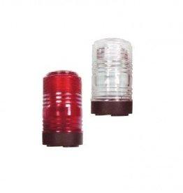 Allround navigatie licht, voet in zwart kunststof met acryl lens Wit of Rood licht