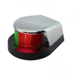 Navigatie verlichting bicolor bovenzijde RVS of chrome