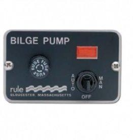 Rule Bilge pomp schakelaar met paneel 12/24V