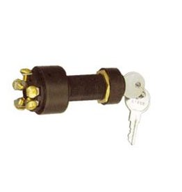Golden Ship Plastic Ignition Starter Switch  with rubber cap 5 terminals, 3 positions (GS11153)