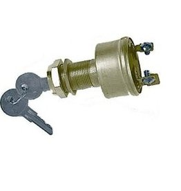 Golden Ship Ignition Switch brass out-ignition start 3 terminal panels up to 28mm (GS11150)