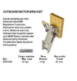 Golden Ship Outboard motor bracket up to 20 hp (GS73102)