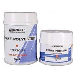 Soromap Polyester resin 375 or 750 grams (SOR 140090)