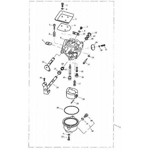 Parsun Buitenboordmotor F4 & F5 Carburateur onderdelen