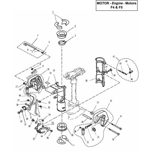 Parsun Buitenboordmotor F4 & F5 Bracket onderdelen