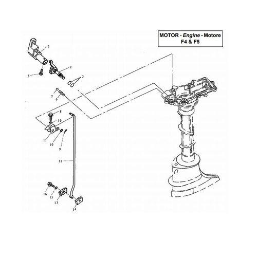 Parsun Buitenboordmotor F4 & F5 Control onderdelen