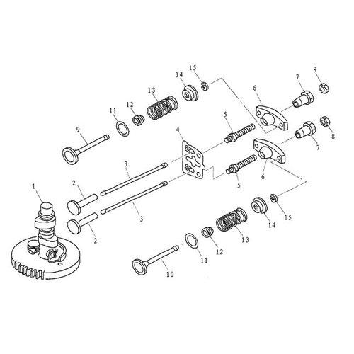 Parsun Buitenboordmotor F4 & F5 Camshaft & Valve onderdelen