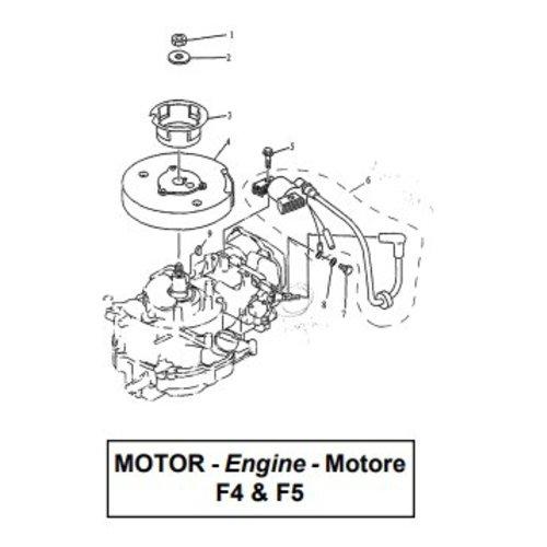 Parsun Buitenboordmotor F4 & F5 Ignitor Assy onderdelen