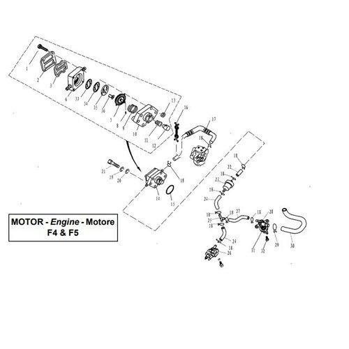 Parsun Buitenboordmotor F4 & F5 Fuel onderdelen