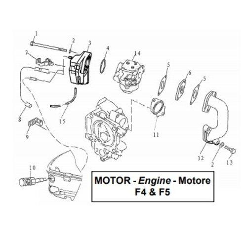 Parsun Buitenboordmotor F4 & F5 Intake onderdelen