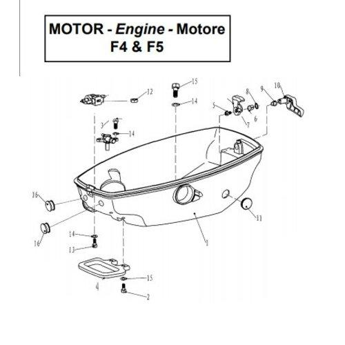 Parsun Buitenboordmotor F4 & F5 Bottom Cowling onderdelen