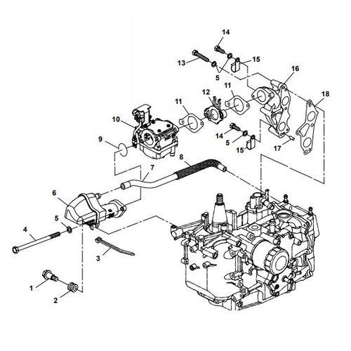 Parsun Buitenboordmotor F20A (F15A) BM (FW) Intake onderdelen