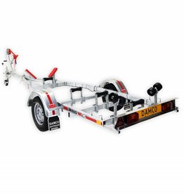 Damco quality trailer DK 1001 braked, tiltable 5 year warranty