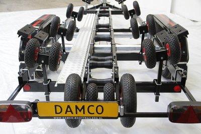 Damco kwaliteits trailer DK 2001 geremd, kantelbaar, 2 asser 5 jaar garantie