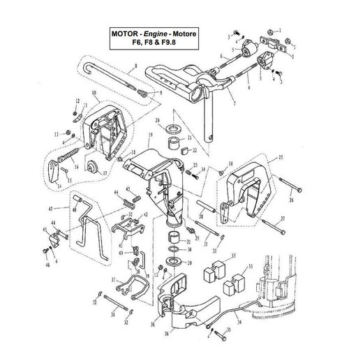 Parsun Buitenboordmotor F6, F8 & F9.8 Bracket onderdelen