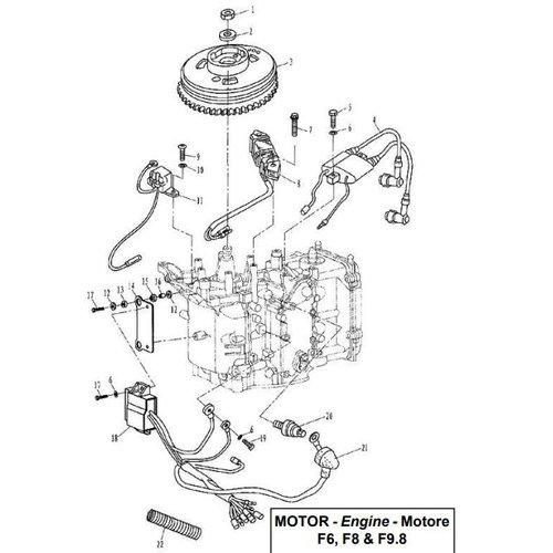 Parsun Buitenboordmotor F6, F8 & F9.8 Electrical onderdelen