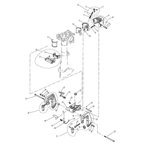 Parsun Buitenboordmotor F2.6 Bracket onderdelen