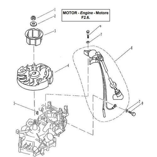 Parsun Buitenboordmotor F2.6 Ignitor Assy onderdelen