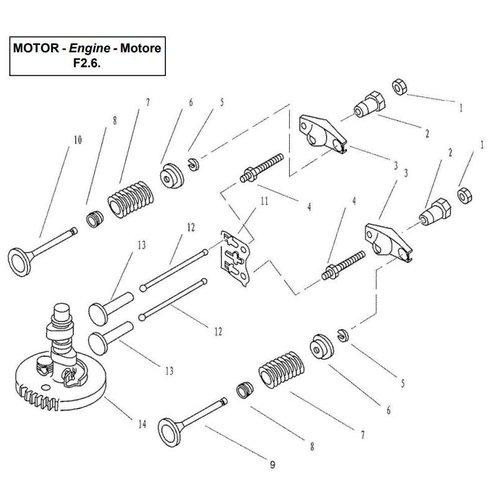 Parsun Buitenboordmotor F2.6 Camshaft & Valve onderdelen