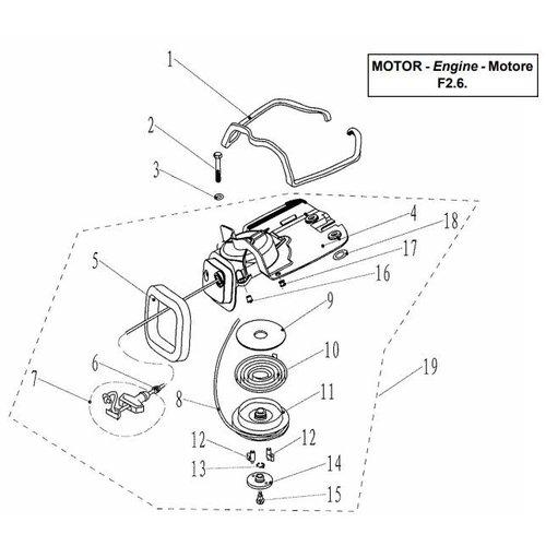 Parsun Buitenboordmotor F2.6 Starter Assy onderdelen