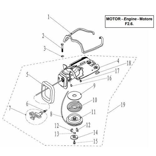 Parsun Outboard Engine F2.6 Starter Assy Parts