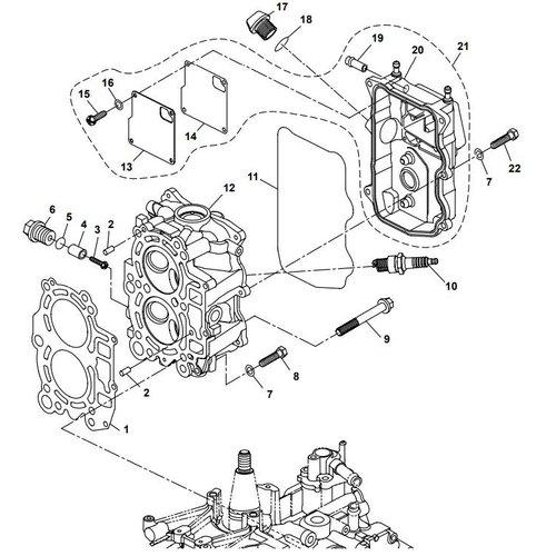 Parsun Buitenboordmotor F20A (F15A) BM (FW) Cylinder Head onderdelen