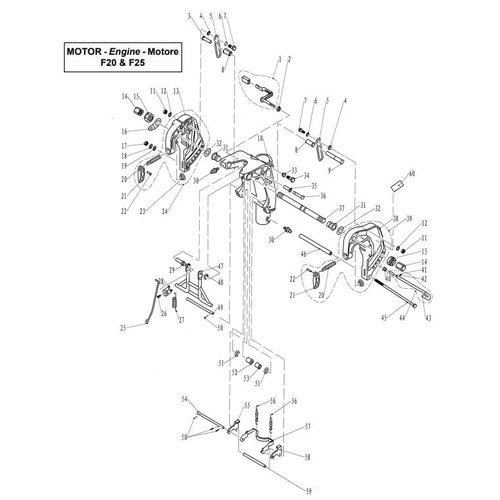 Parsun Buitenboordmotor F20 & F25 Bracket 1 onderdelen
