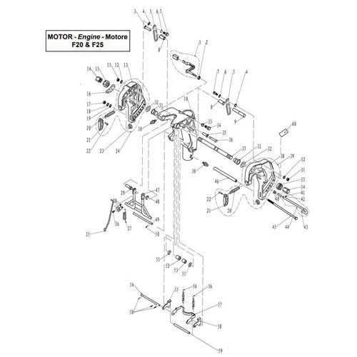 Parsun Outboard Engine F20 & F25 Bracket 1 Parts