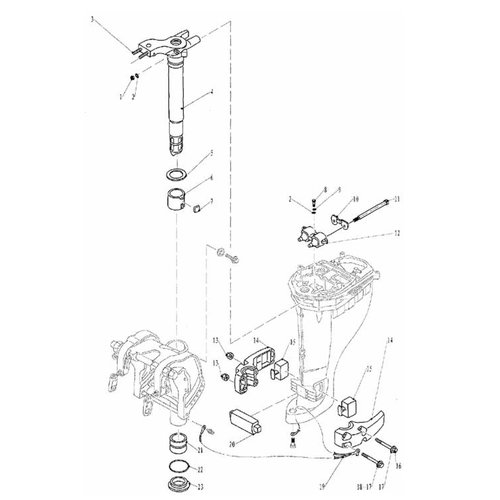 Parsun Outboard Engine F20 & F25 Bracket 2 Parts