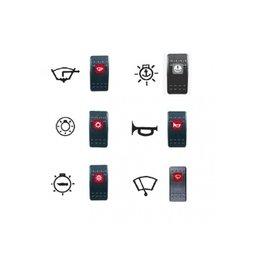 Knop met indicator functie Contura schakelaars