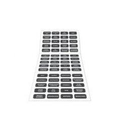 Blue Systems Schakelpaneel labels/stickers grijs/zwart