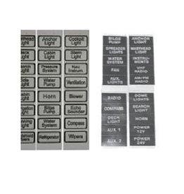 Golden Ship Schakelpaneel labels/stickers wit/zwart
