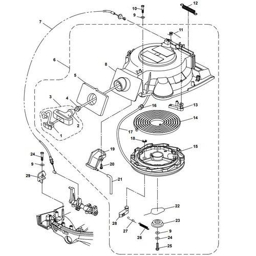 Parsun Buitenboordmotor F20A (F15A) BM (FW) Starter Assy onderdelen