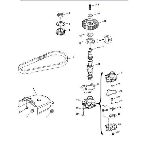 Parsun Buitenboordmotor F20A (F15A) BM (FW) Camshaft onderdelen