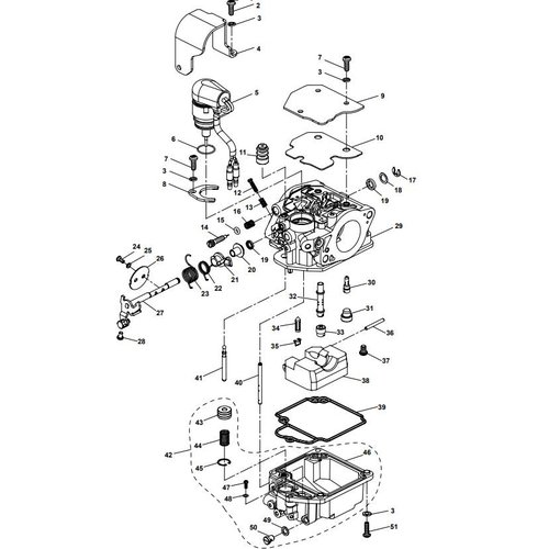 Parsun Buitenboordmotor F20A (F15A) BM (FW) Carburetor Assy onderdelen
