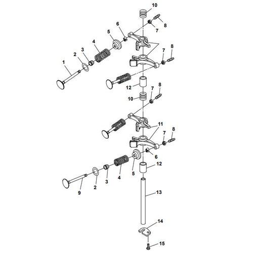 Parsun Buitenboordmotor F20A (F15A) BM (FW) Valve onderdelen